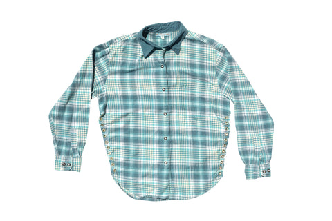 FLANGE FACE // GREEN & BLUE FLANNEL