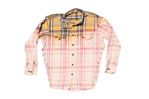 FLANGE FACE // PINK & ORANGE FLANNEL