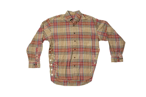FLANGE FACE // MEDIUM BROWN & YELLOW FLANNEL