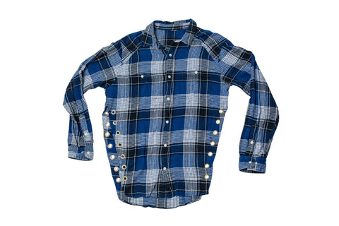 FLANGE FACE // SMALL BLUE & WHITE FLANNEL