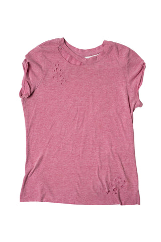 HOLY HELL // MEDIUM PINK SHREDDED T