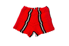 LORO // RED SWEATER SHORTS