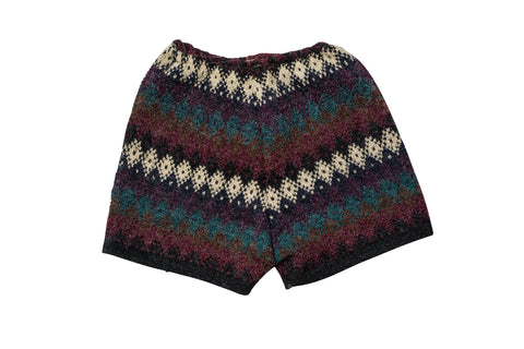 LORO // MEDIUM MAROON SWEATER SHORTS