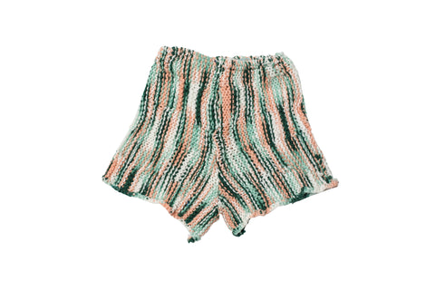 LORO // EXTRA SMALL MINT SWEATER SHORTS