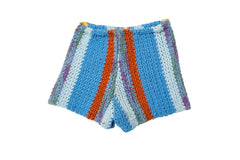LORO //  BLUE STRIPED SWEATER SHORTS