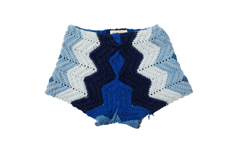 LORO // LARGE BLUE SWEATER SHORTS
