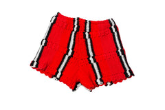 LORO // MEDIUM RED SWEATER SHORTS
