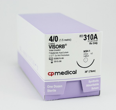 Suture - CP Medical 310A - Visorb 4/0 SH-1 30""