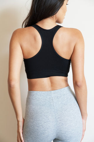 Black Sequence Bra | Sustainable Activewear