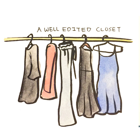 A well edited capsule closet