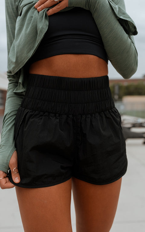 Free People Way Home Short in Black