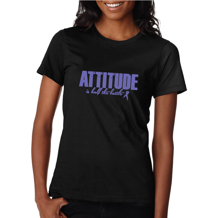 Attitude Casual T - Black/Purple