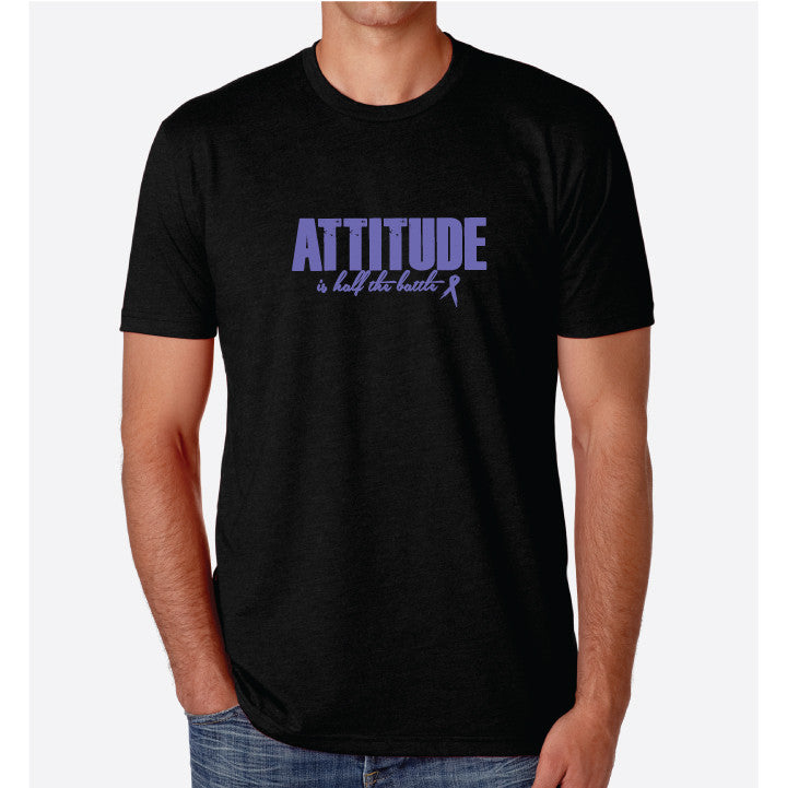 Attitude Men's T- Blk/ Purple