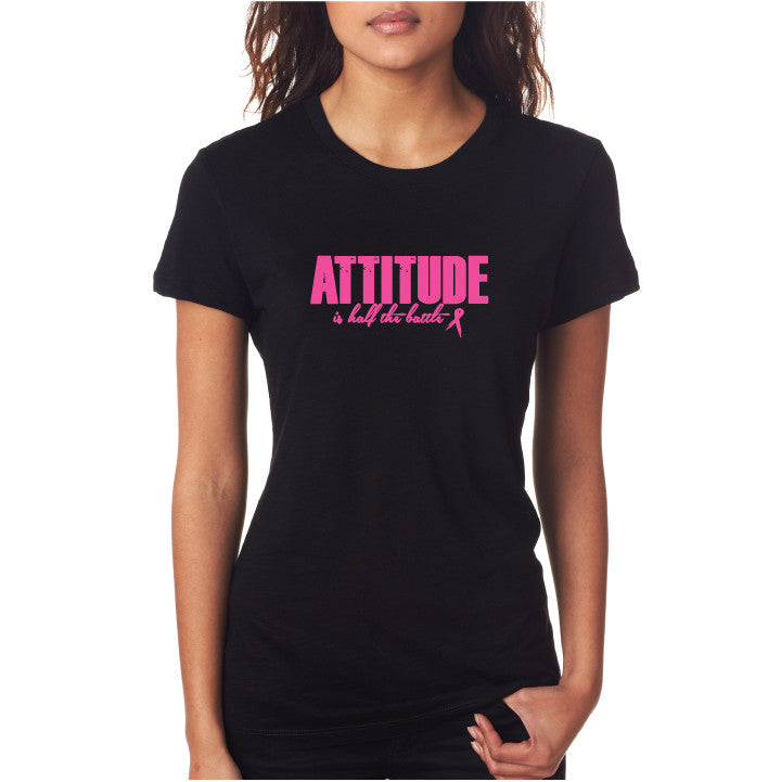 Attitude Fitted Tee Blk/Pink