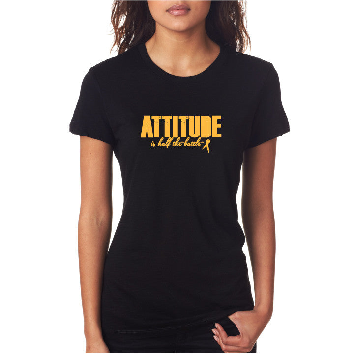 Attitude Fitted Tee Blk/ Gold
