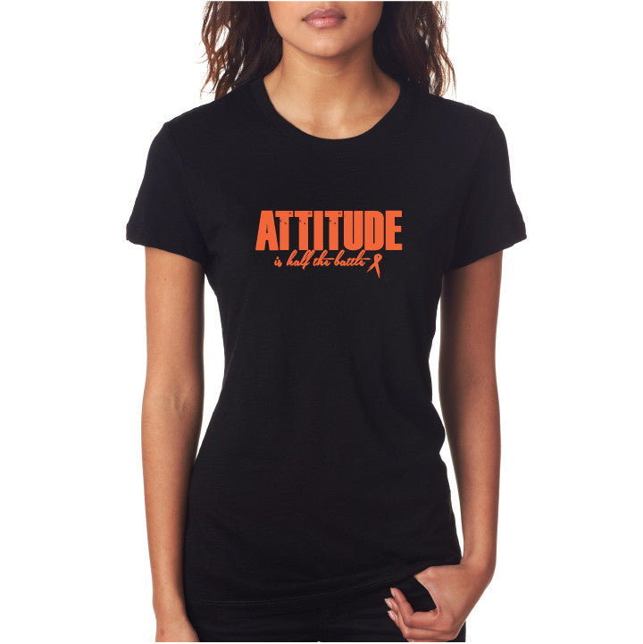 Attitude Fitted Tee Blk/ Orng