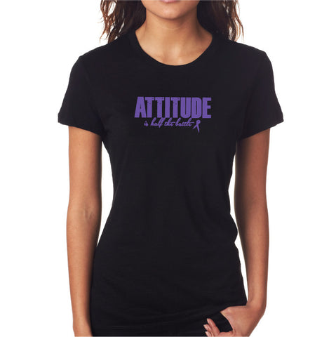 Attitude Fitted Tee Blk/Purple