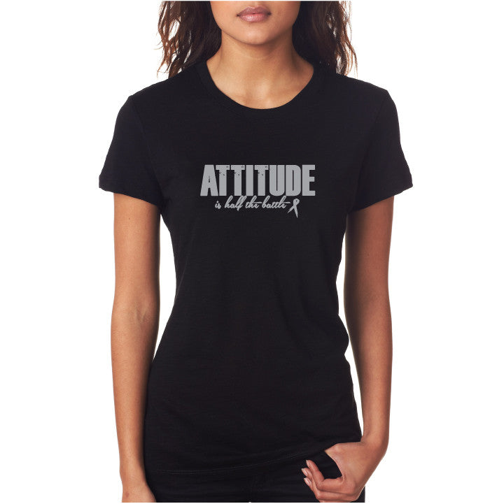 Attitude Fitted Tee Blk/ Silv
