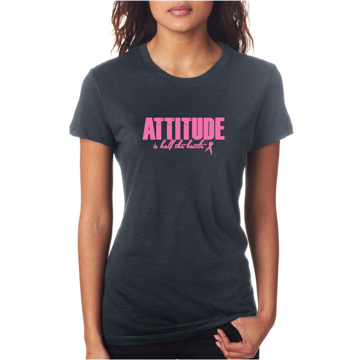 Attitude Fitted Tee Smoke/ Pink