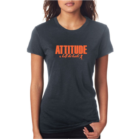Attitude Fitted Tee Grey/ Orng