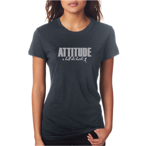 Attitude Fitted Tee Grey/ Silv