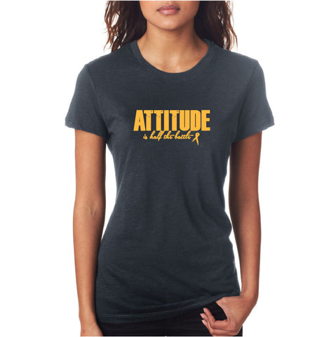 Attitude Fitted Tee Grey/ Gold
