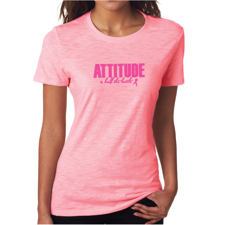 Attitude Fitted Tee Tonal Pink