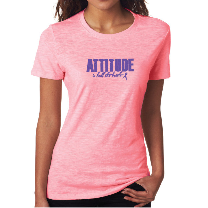 Attitude Fitted Tee Pink/ Purple