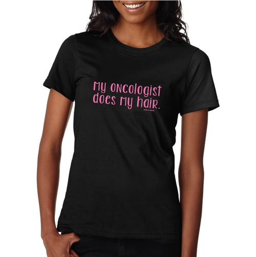 Oncohair Casual T - Black/Pink