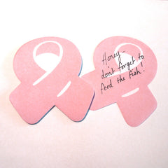 Pink Ribbon Sticky Notes