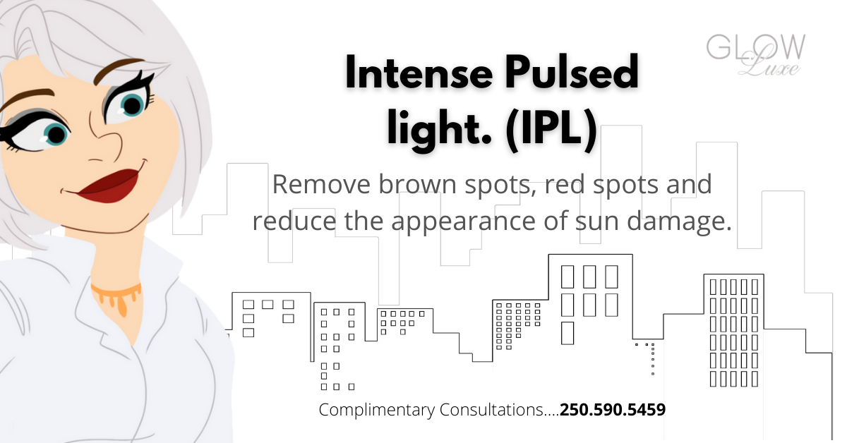 Intense pulsed light. treatment for brown spots, red scars, sun damage, age spots.