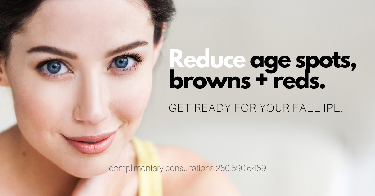IPL promotion. Intense pulsed light. brown, red spots, age spots
