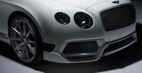 Vorsteiner 1800BOV Bently Continental GT BR-10RS Aero Front Bumper Front Spoiler Carbon Fiber PP 2x2 Glossy