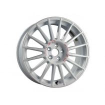 OZ RALLY ASFALTO AL 18 X 8 +38 5 X 114.3 CBN/A WHITE RED LETTERING