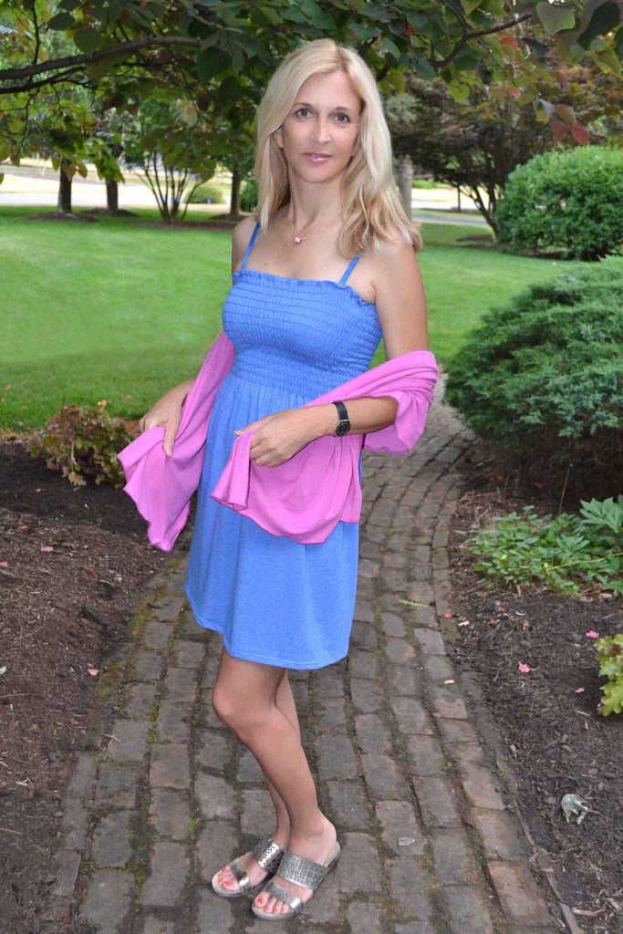 Tube Top Dress - Blue - Groutfit Apparel