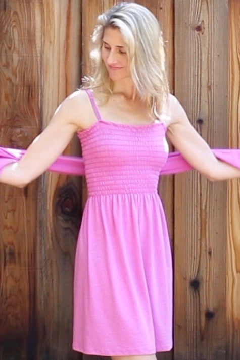 Tube Top Dress - Pink