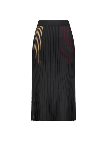 MULTI COLOR RIBBED KNIT SKIRT