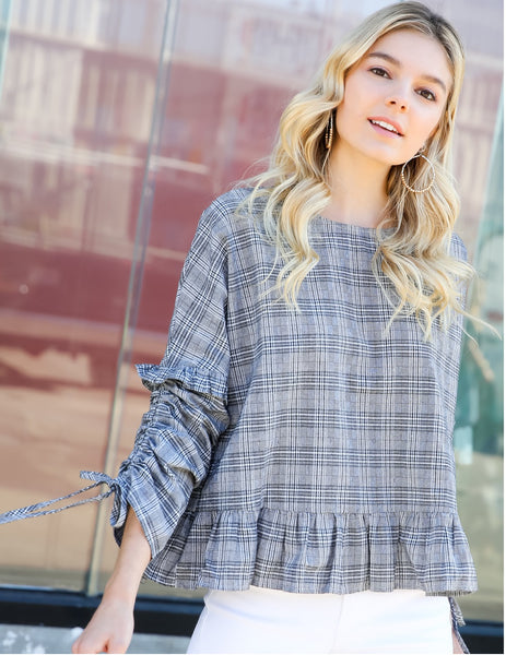 Plaid Check Top