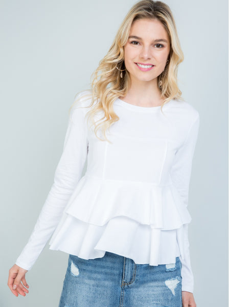 Tiered Ruffle Trim Top