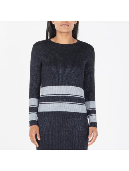 RIIBBED TOP WITH GREY STRIPE