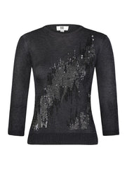 SEQUIN DETAILED FRONT SWEATER