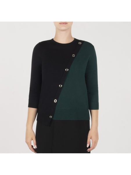 GREEN TWO TONE TOP WITH METAL GROMMETS
