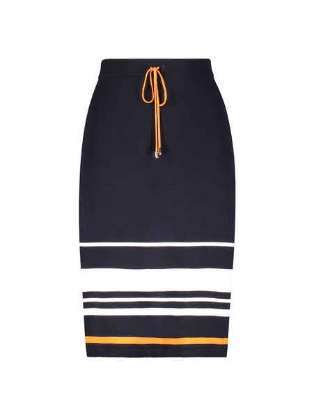 STRIPE DETAILED KNIT PENCIL SKIRT