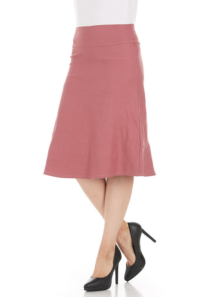 Millennium Stretch Fitted A-line Skirt