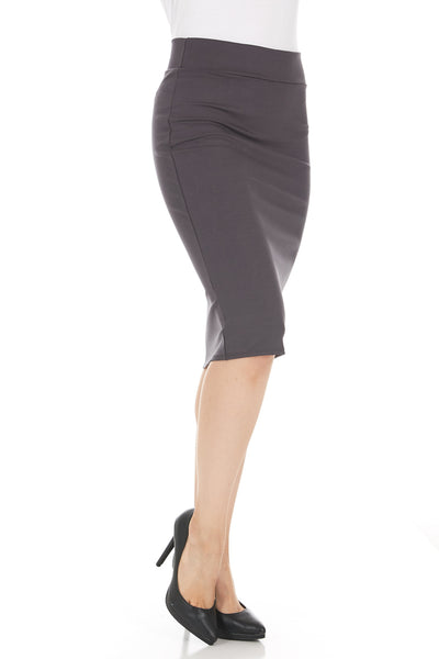 Ponte Straight Tummy Control Pencil Skirt