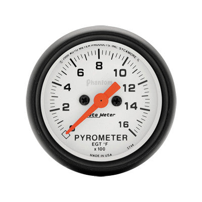 Auto Meter Phantom Series Pyrometer Gauge Kit 5744