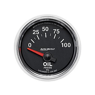 Auto Meter 3827 GS Series Oil Pressure Gauge