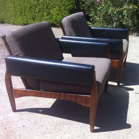 70s Rosewood Lounge Chairs