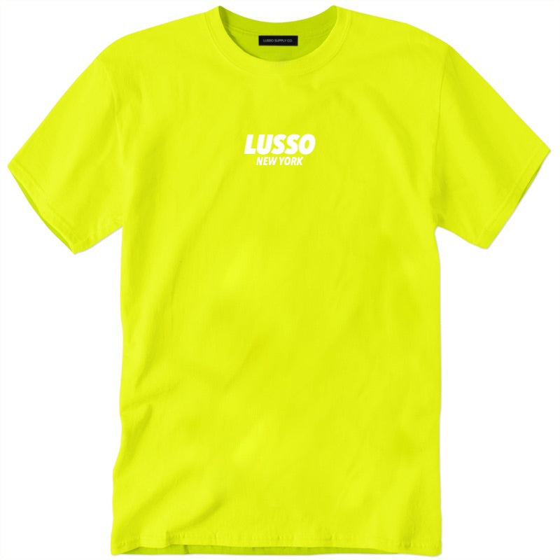 LUSSO NEW YORK NY12 Byway T-SHIRT (NEON YELLOW)