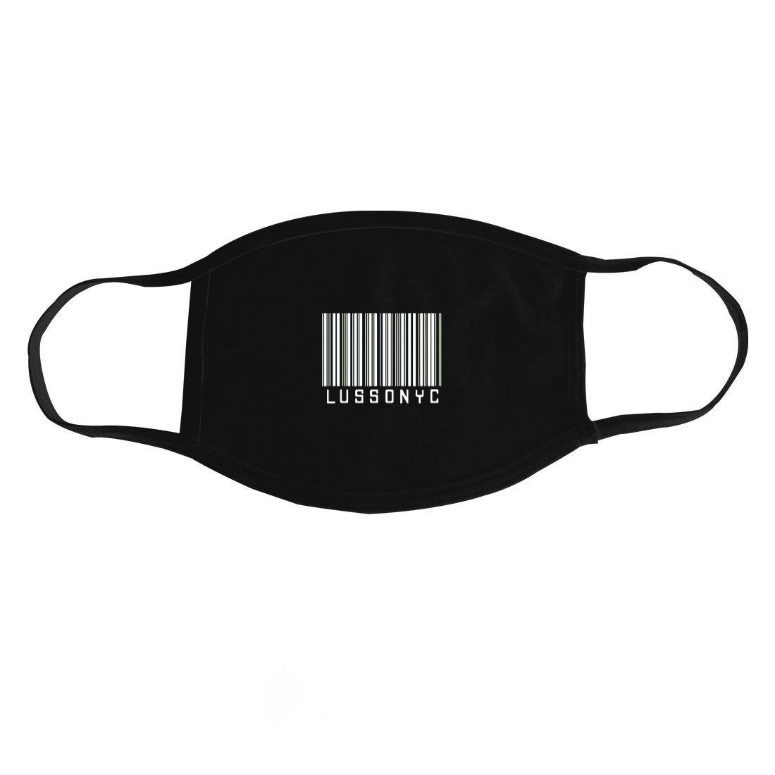LUSSONYC BARCODE FACE MASK (NERO)